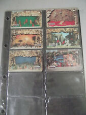 MERRY CHRISTMAS 1998 Complete Set of 6 Different Phone Cards from Brazil