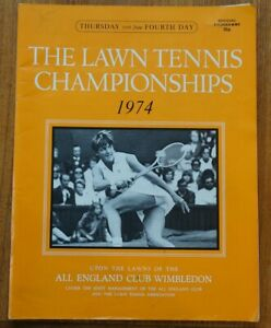 L.T.A. Championships Wimbledon 1974, Official programme 27th June, fourth Day