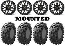 Kit 4 Kenda Bearclaw K299 26x9-12/26x11-12 on ITP Hurricane Matte Black SRA
