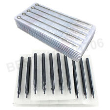 50 Pcs Tattoo Needles and Tube Tips + Assorted Lining and Shading Sizes RL RS M1
