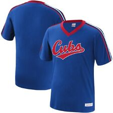Mitchell & Ness MLB Youth (8-20) Chicago Cubs Overtime Win Vintage V-Neck Tee
