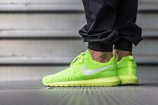 UK 8.5 Men's Nike Roshe NM Flyknit Trainers Yellow Green Run Gym EUR 43 US 9.5