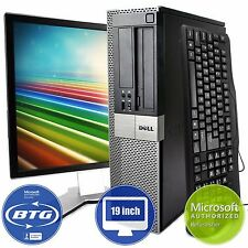 Dell Optiplex 960 Desktop Computer PC Windows 10 Intel 8GB 500gb 19 LCD Monitor