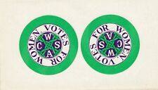Original paper for Votes for Women buttons - 1915 era