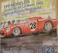 FERRARI DINO 246 SP Le Mans 1962 1/24 unassembled model kit Rodriguez