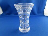 vintage pressed glass bud vase or toothpick holder