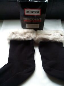 Ladies Short Hunter Furry Cuff Welly Socks. BNIB. Size Medium
