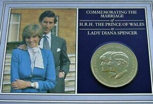 1981 Charles and Diana wedding coin and card pack. VGC