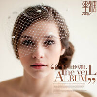 Net tulle Wedding headdress Bridal Birdcage Face Veil Fascinator Veils no Comb