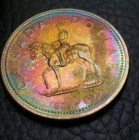 Toned Silver 1973 Canada Proof Specimen Dollar