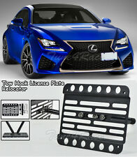 For 15-Up Lexus RC F Front Bumper RCF Tow Hook License Plate Bracket Relocator