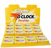 Gillette 7 o'clock Sharp Edge Double Edge Barber Razor Shaving Blades