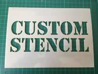 Custom Stencil Laser Cut In 190 Micron Mylar up to 1.3 meter x 90 cm