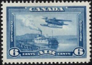 Canada 1938  Airmail Issue  6c Blue  SG.371  Mint (Hinged)  Scott # C6
