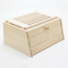 Holzfee BK S Brotkasten + Brotschneidbrett Brotbox Klapptür Brotschneidebrett