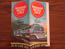 Missouri Pacific Lines USA Railway Train Timetable 1952 Los Angeles New Orleans