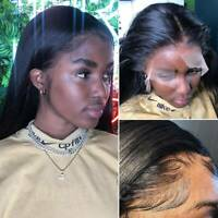 Straight 100% Real Remy Indian Human Hair Wig Lace Front/Full Lace Wig Hairline