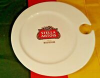 "VINTAGE 9 3/4"" ACROSS STELLA ARTOIS CERAMIC PARTY SERVING PLATE"