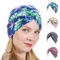 Women's Turban Headwear Chemo Scarf Floral Wrap Muslim Hat Cancer Head Cap Cover