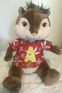 "Build A Bear ~ Alvin Chipmunk 13"" Plush ~ Chipwrecked ~ Hawaiian Shirt"
