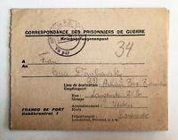Lot of 2 - 1946 & 47  WW2 Prisoner of War folded letter & postcard - c-677