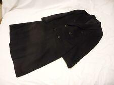 Wool Cashmere Blend Long Pea Coat by El Corte Ingles Black Large