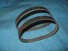 "2 NEW DRIVE BELTS FOR GRIZZLY G0505 12 1/2"" PORTABLE PLANER LEAN AND MEAN"