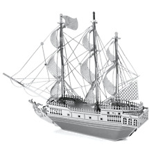 Disney Authentic✿Metal Earth Model 3D Kit✿Pirates of Caribbean Ship Black Pearl