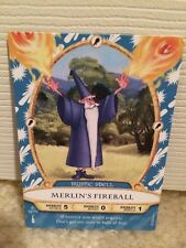 WALT DISNEY WORLD Sorcerers Magic Kingdom Merlin's Fireball Card 12/70