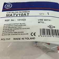 Auxiliary Contact 101022 GE MATV10AT