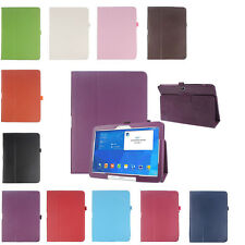 """Ultra Slim Folio Leather Case Cover For Samsung Galaxy Tab 4 10.1"""" SM-T530 Table"""