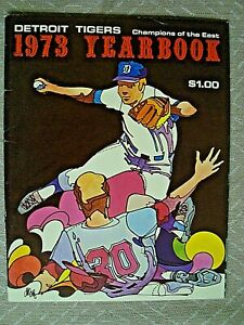 Detroit Tigers 1973 Official Yearbook - MLB