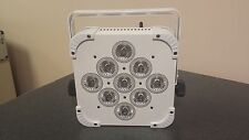 9x15W  5 in 1(RGBWA) Led Uplighting, Wireless DMX, Battery Powered (White/Black)
