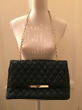 Borsa nera Zara effetto matelassé catena dorata black quilted bag golden chain