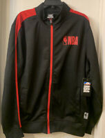 NBA Men's Full-Zip Track Jacket Black/Red Size XL Style# ZKM5746F New MSRP $75