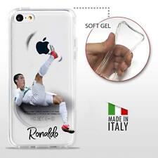 iPhone 5C COVER PROTETTIVA GEL TRASPARENTE Calcio Soccer Football Ronaldo CR7