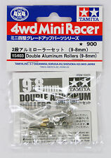 Tamiya 15403 Mini 4Wd Double Aluminum Rollers 9-8mm