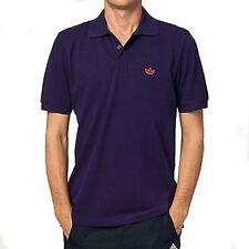 Camisa Polo Piqué Adidas Originals Adi-Púrpura/o S M camiseta Retro RRP £ 35 BNWT