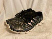 Adidas Mens Size 11.5 Running Shoes 3 Stripe Gray Black