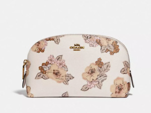 Coach Floral Print White Cosmetic Case Women's 71355