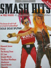 Smash Hits March Monthly Music, Dance & Theatre Magazines