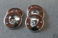 4 Badges avec gravure TETE DE MORT Ø25mm 100%métal