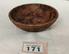 "Dark Fruit Wood Hand Turned Wooden Bowl 5"" Diameter 1.5"" Deep"