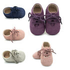 Cute Baby Kids Boys Girls Leather Shoes Toddler Moccasin Soft Crib Shoes 0-18 M