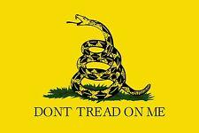 1- 3x5 3 x 5 DTOM Dont Tread On Me Window Decal Bumper Sticker Gasden Flag USA