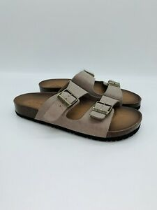 Skechers Women's GRANOLA Two Strap Relaxed Fit Luxe Foam Slide Sandals - Taupe
