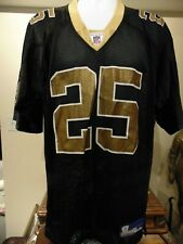 NFL Football New Orleans Saints Reggie Bush Black Reebok Jersey Men's Large