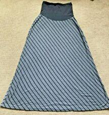 Motherhood Maternity women's LRG black & gray long jersey knit skirt