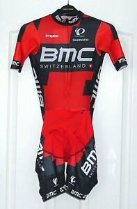 """RIDER-ISSUED BMC TEAM MESH SKINSUIT. PEARL IZUMI SMALL UP TO 35"""" CHEST"""