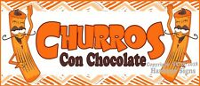 (Choose Your Size) Churros Con Chocolate Decal Food Truck Concession Sticker